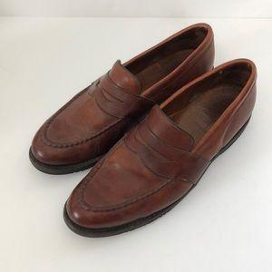 Allen Edmonds Fairmont Cognac Loafers